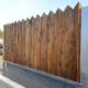 Barrière de sécurité KLOSTAB - Option bois vertical en pointe