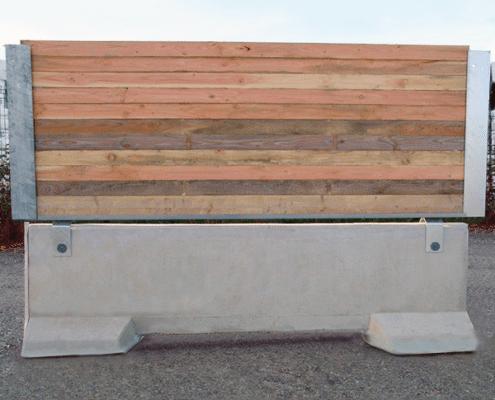 Barrière de sécurité KLOSTAB - Habillage bois horizontal en pointe