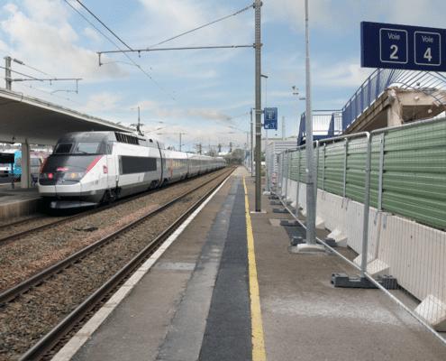 Barrières de sécurité KLOSTAB - Chantier à la Gare SNCF de Laval (72)