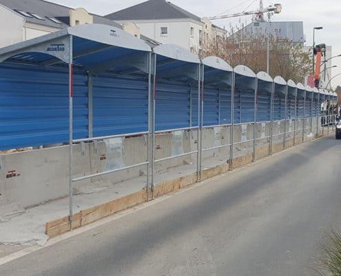 Passage couvert pour un chantier à Nantes (44)