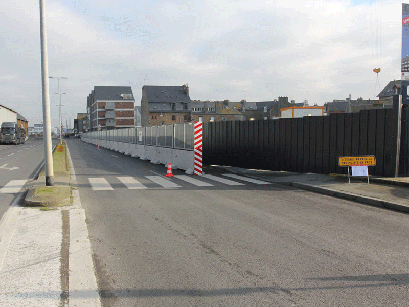 KLOSTAB - Sécurisation des piétons à proximité d'un chantier à Saint-Malo