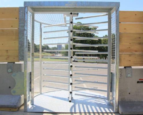 Tourniquet contrôle d'accès KLOSTAB, accessoires pour les barrières de sécurité en béton
