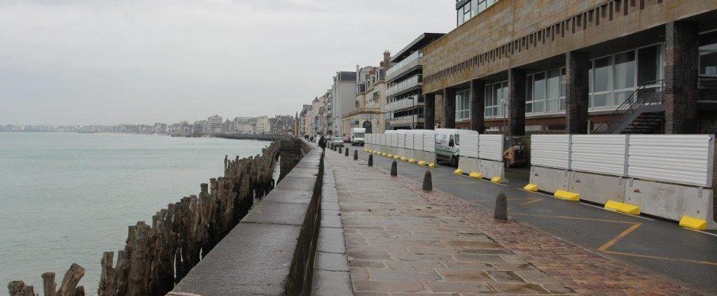 Barrières de sécurité pour la mairie de Saint Malo en Bretagne