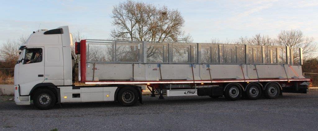 Départ pour la pose de barrières de sécurité KLOSTAB pour la Bretgane