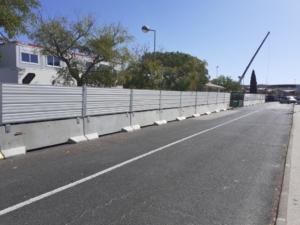 Séparation béton, limitation des risques routiers